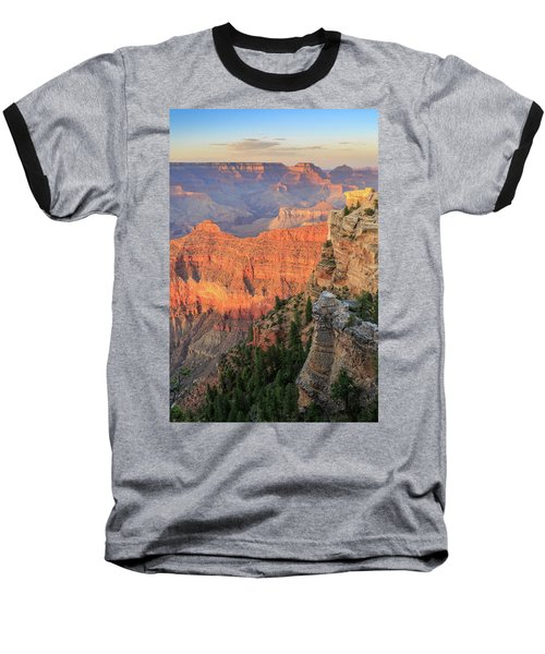 Sunset At Mather Point Baseball T-Shirt