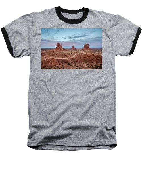 Baseball T-Shirt featuring the photograph Sunset At Monument Valley No.1 by Margaret Pitcher