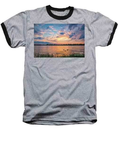 Sunset At Morse Lake Baseball T-Shirt