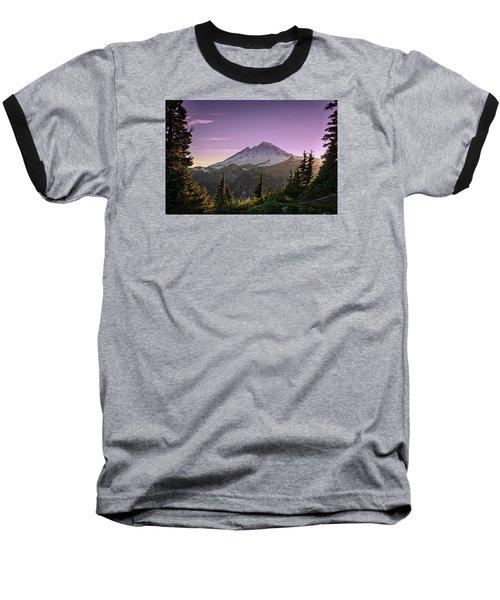 Sunset At Mt. Baker Baseball T-Shirt by Sabine Edrissi