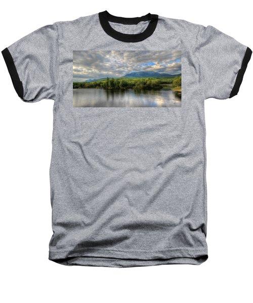 Sunset At Mt. Katahdin Baseball T-Shirt