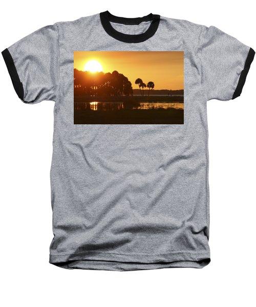 Sunset At Myakka River State Park In Florida, Usa Baseball T-Shirt