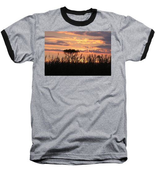 Baseball T-Shirt featuring the photograph Sunset At Ocean City by Vadim Levin