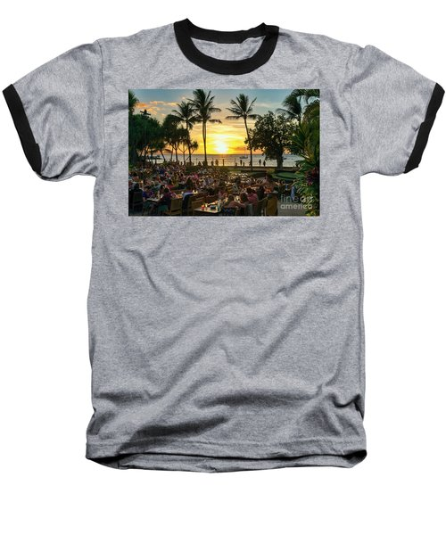 Sunset At Old Lahaina Luau #1 Baseball T-Shirt