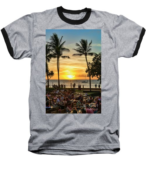 Sunset At Old Lahina Luau #2 Baseball T-Shirt