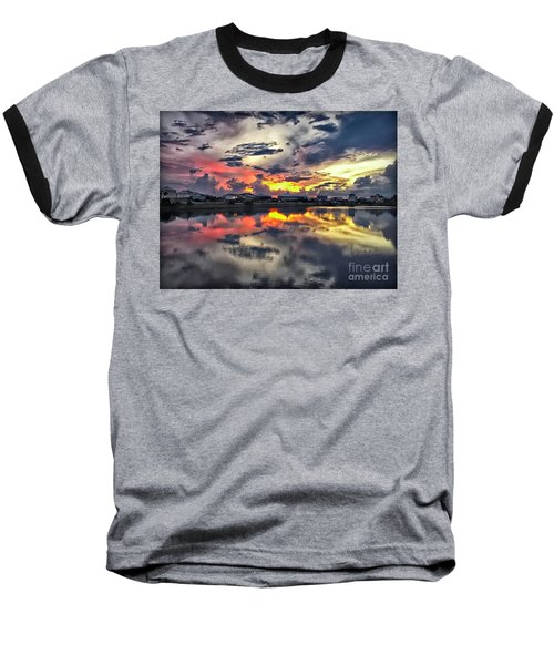 Sunset At Oyster Lake Baseball T-Shirt by Walt Foegelle
