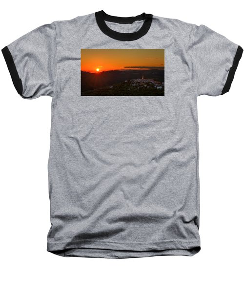 Sunset At Padna Baseball T-Shirt by Robert Krajnc