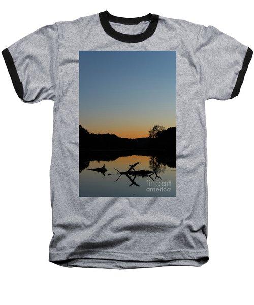 Sunset At Paulinskill Lake Baseball T-Shirt by Nicki McManus