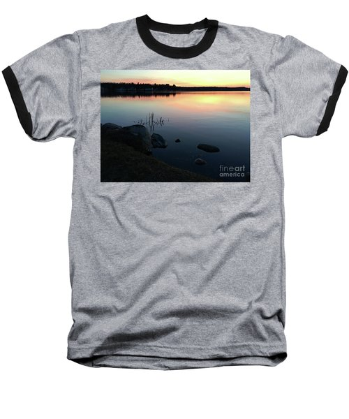 Sunset At Pentwater Lake Baseball T-Shirt