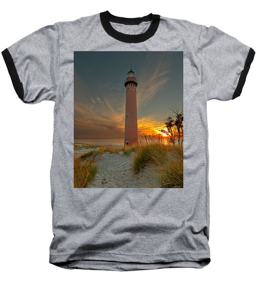 Sunset At Petite Pointe Au Sable Baseball T-Shirt