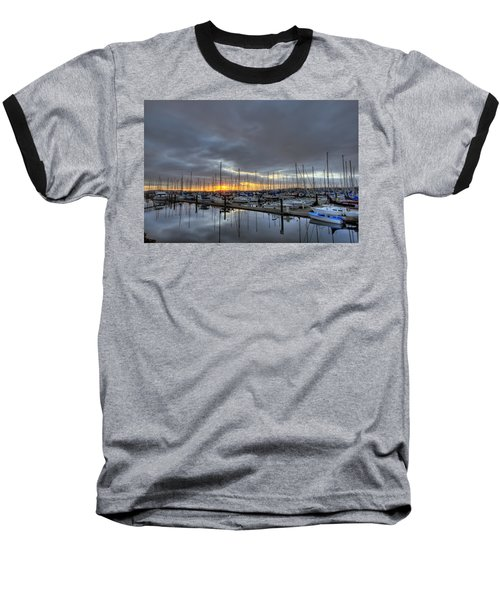 Sunset At Port Gardner Baseball T-Shirt