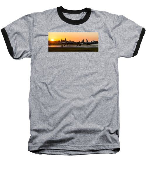 Sunset At Raf Lakenheath Baseball T-Shirt by Tim Beach