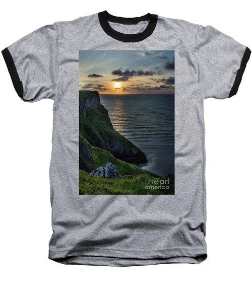 Sunset At Rhossili Bay Baseball T-Shirt