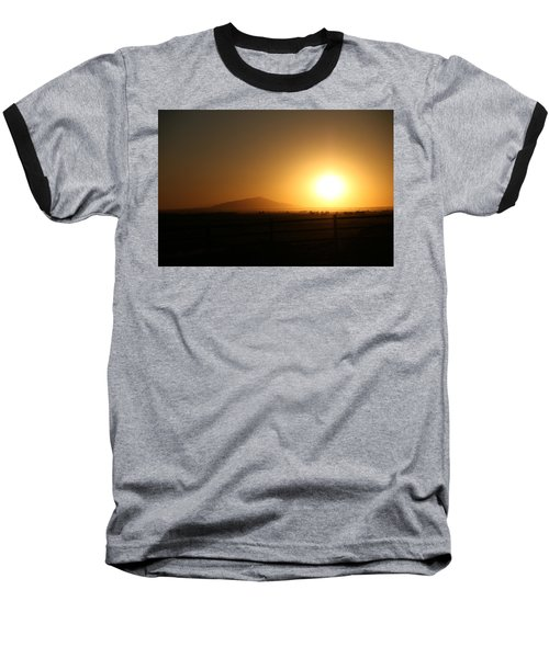 Sunset At Roswell New Mexico  Baseball T-Shirt