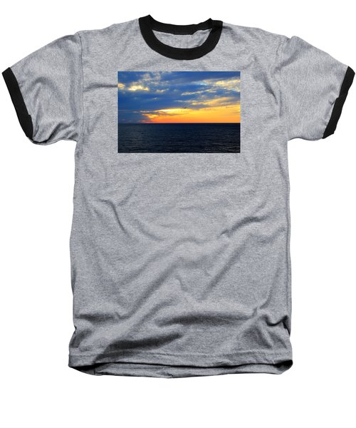 Baseball T-Shirt featuring the photograph Sunset At Sail Away by Shelley Neff