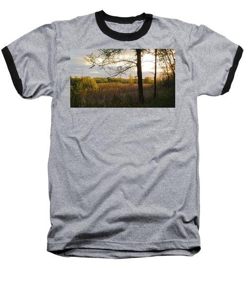 Sunset At Scuppernong II Baseball T-Shirt by Kimberly Mackowski