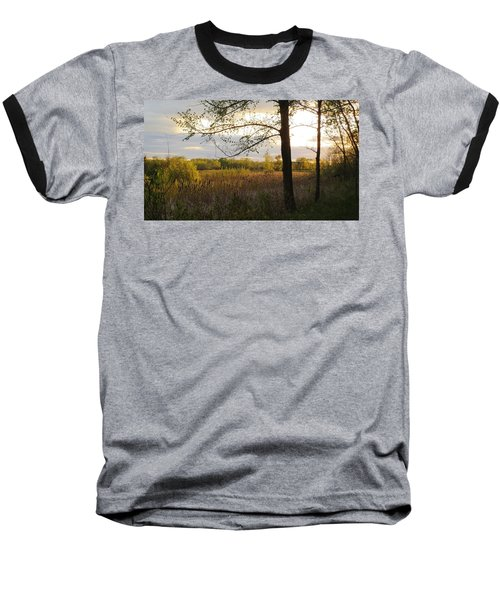 Sunset At Scuppernong II Baseball T-Shirt