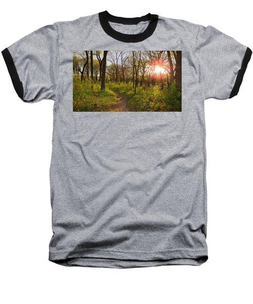 Sunset At Scuppernong Baseball T-Shirt by Kimberly Mackowski
