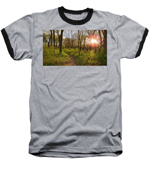 Sunset At Scuppernong Baseball T-Shirt