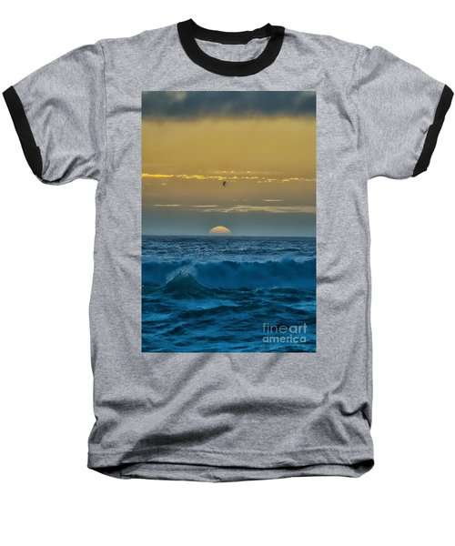 Sunset At Sea Baseball T-Shirt by Billie-Jo Miller