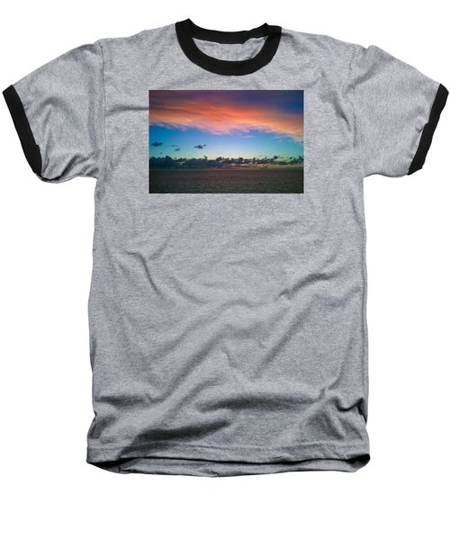 Baseball T-Shirt featuring the photograph Sunset At Sea by Matthew Bamberg