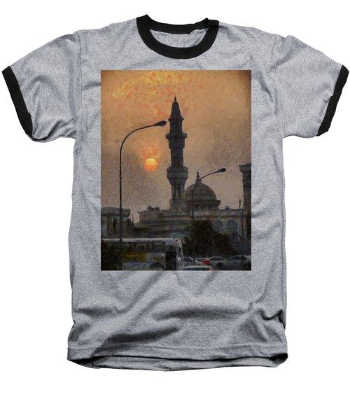 Sunset At Seeb Baseball T-Shirt