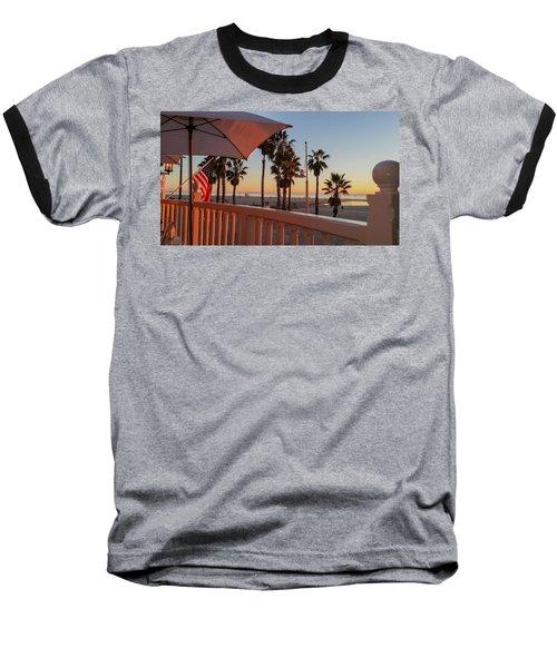 Sunset At Shutters Baseball T-Shirt by Mark Barclay