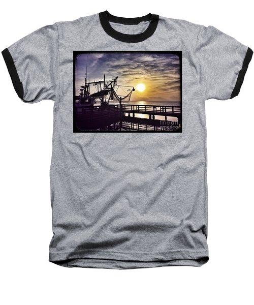 Sunset At Snoopy's Baseball T-Shirt