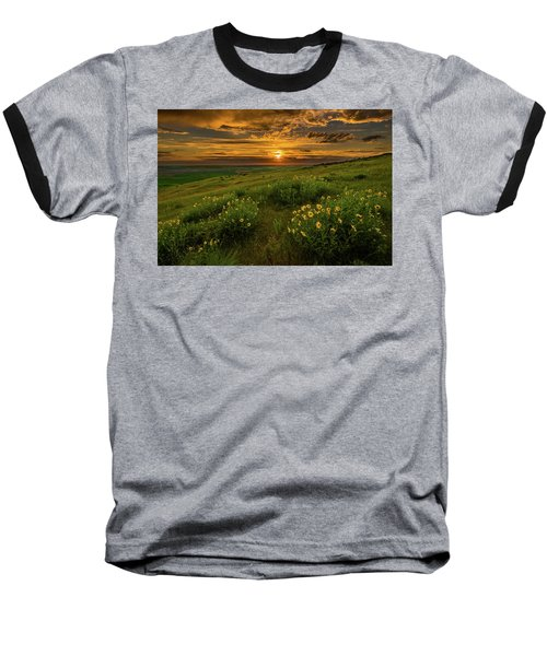 Sunset At Steptoe Butte Baseball T-Shirt