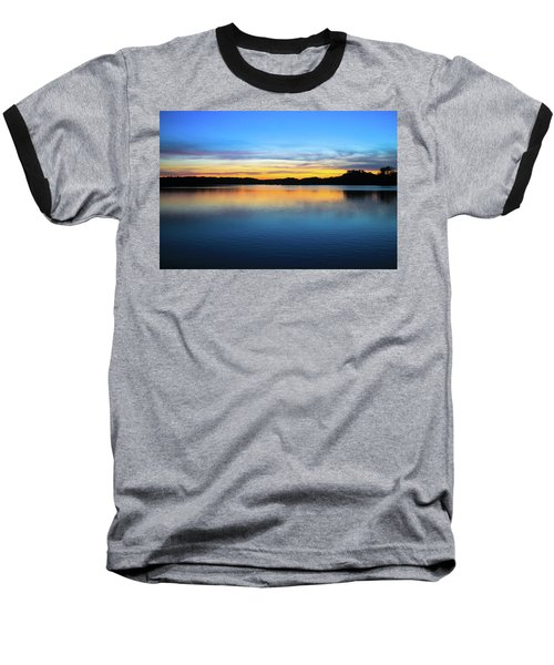 Sunset At Stumpy Lake Virginia Beach Baseball T-Shirt
