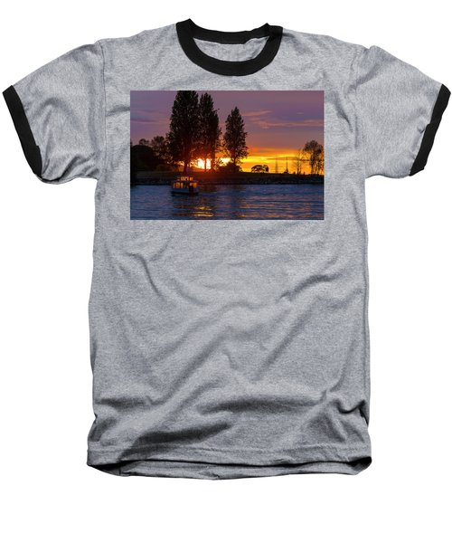 Sunset At Sunset Beach In Vancouver Bc Baseball T-Shirt