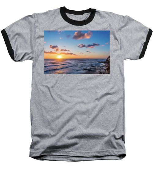 Sunset At Swami's Beach  Baseball T-Shirt