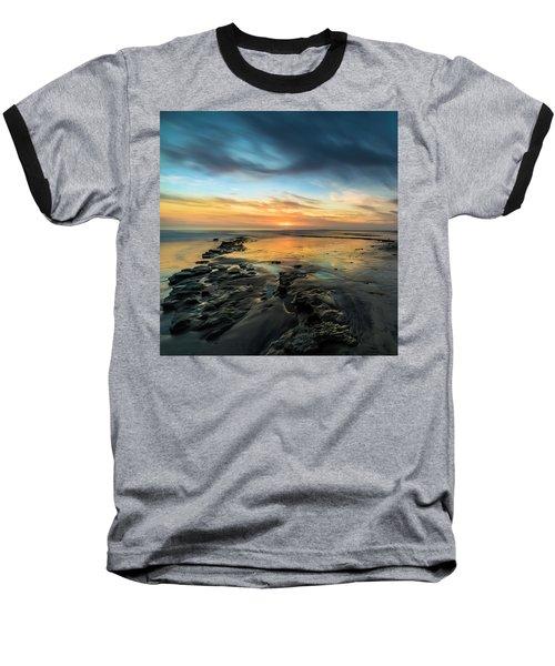 Sunset At Swamis Beach Baseball T-Shirt