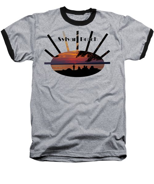 Sunset At Sylvan Beach - T-shirt Baseball T-Shirt by Lori Kingston