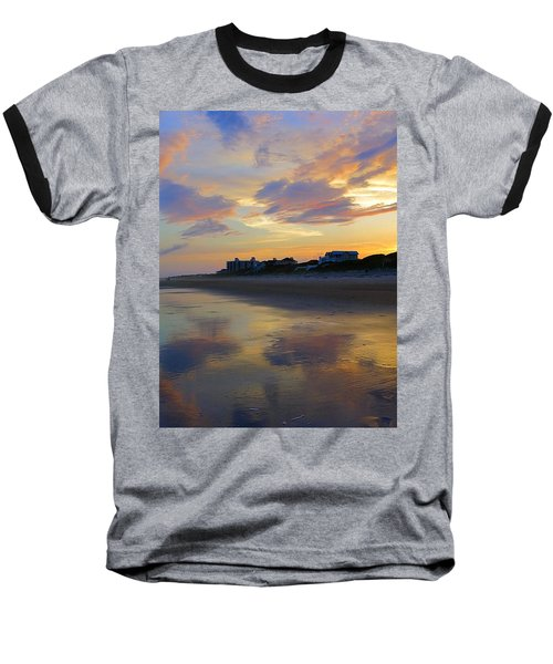 Sunset At The Beach Baseball T-Shirt by Betty Buller Whitehead