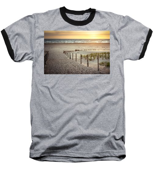 Baseball T-Shirt featuring the photograph Sunset At The Beach by Hannes Cmarits