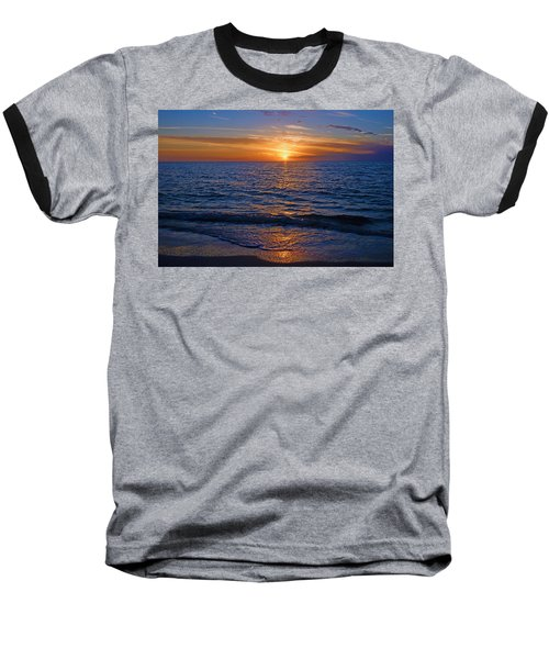 Sunset At The Beach In Naples, Fl Baseball T-Shirt