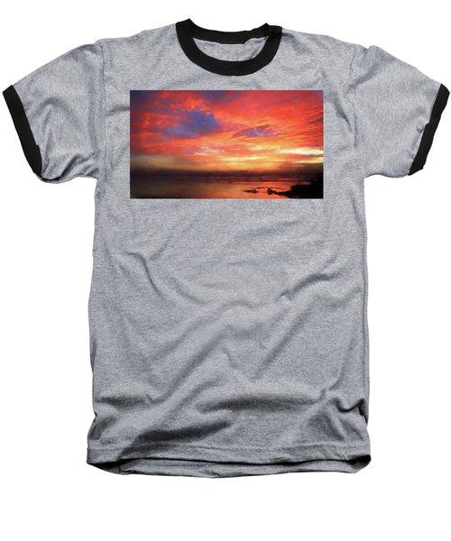 Sunset At The Beach Baseball T-Shirt