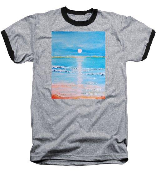 Sunset At The Beach Baseball T-Shirt by Teresa Wegrzyn
