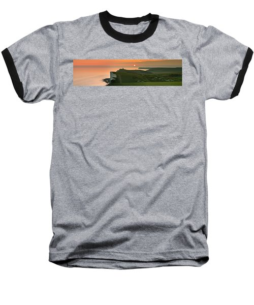 Sunset At The Belle Tout Lighthouse Baseball T-Shirt
