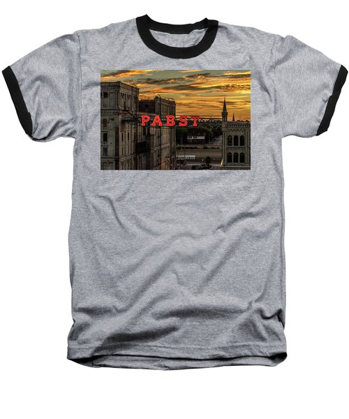 Sunset At The Brewery Baseball T-Shirt