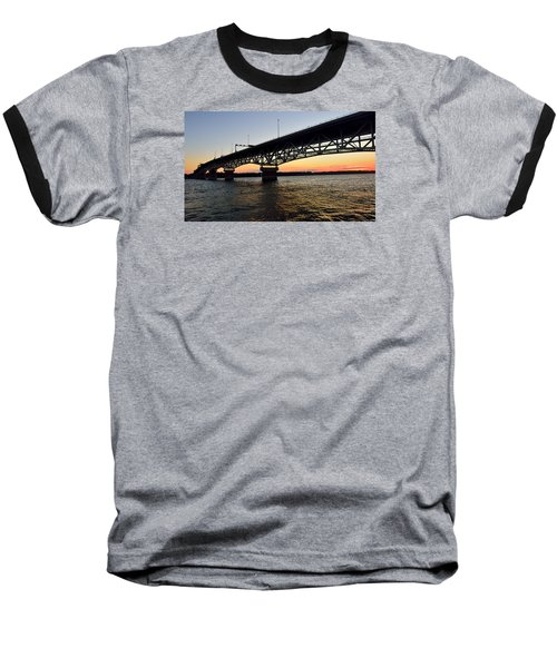 Sunset At The Coleman Bridge Baseball T-Shirt