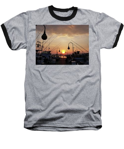 Sunset At The End Of The Talbot St Pier Baseball T-Shirt