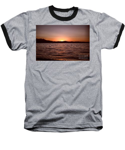 Sunset At The Lake 2 Baseball T-Shirt