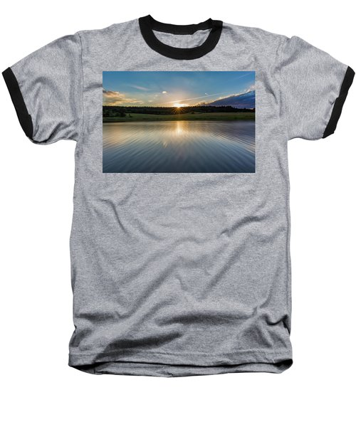 Sunset At The Mandelholz Dam, Harz Baseball T-Shirt