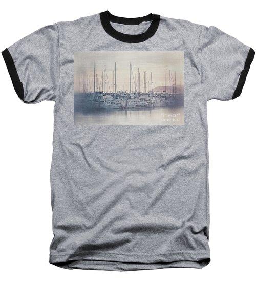 Sunset At The Marina Baseball T-Shirt