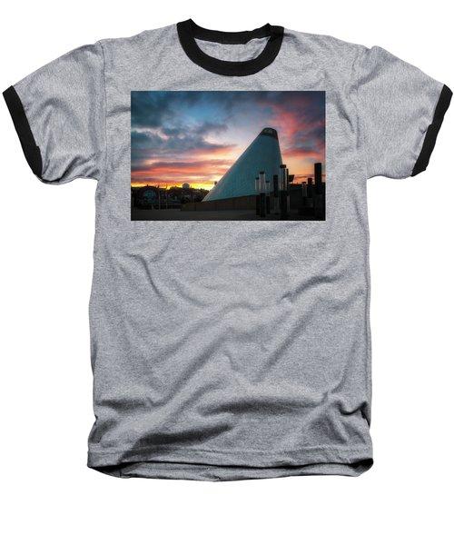 Sunset At The Museum Of Glass Baseball T-Shirt