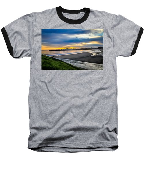 Baseball T-Shirt featuring the photograph Sunset At The Rivermouth by Lora Lee Chapman