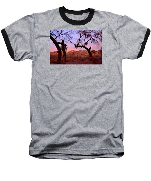 Sunset At The Swell Baseball T-Shirt