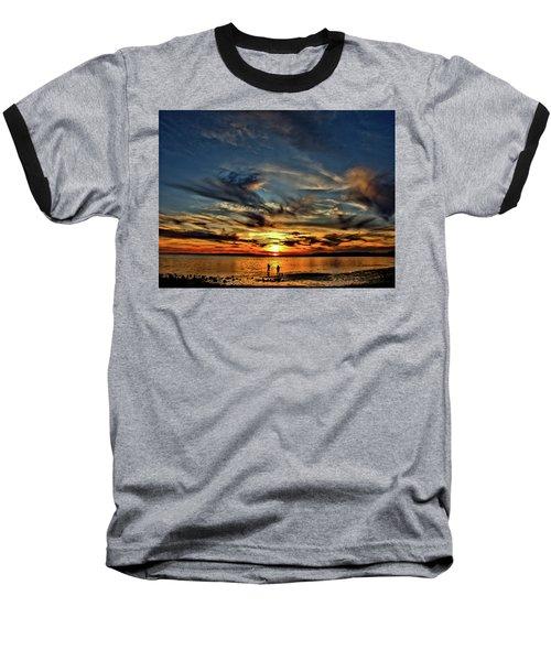 Sunset At The Waters Edge Baseball T-Shirt